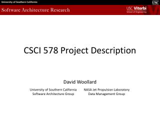 CSCI 578 Project Description
