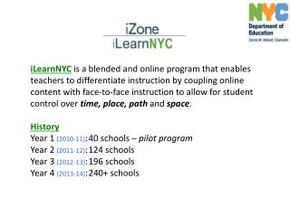 Middle Schools and High Schools are using blended and online learning for many purposes: