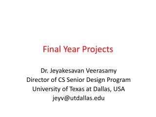 Final Year Projects