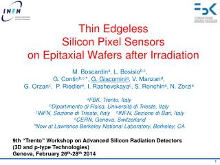 Thin Edgeless  Silicon Pixel Sensors on Epitaxial Wafers after Irradiation