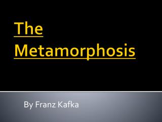 metamorphosis analysis