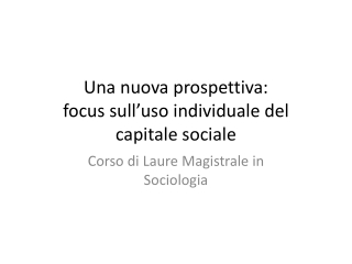 Bourdieu s notion of social capital