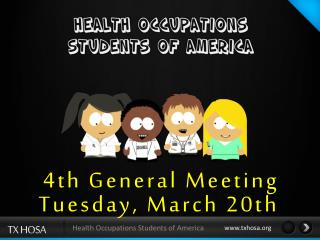 4th General  Meeting Tuesday,  March 20th