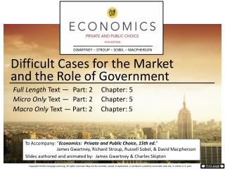 Difficult Cases for the Market and the Role of Government