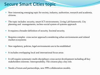 Secure Smart Cities topic