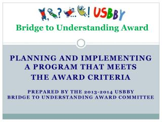 Bridge to Understanding Award