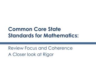 Common Core State Standards for Mathematics :