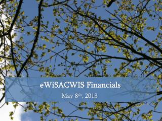 eWiSACWIS  Financials
