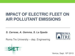 impact  of  ELECTRIC FLEET ON AIR POLLUTANT EMISSIONS