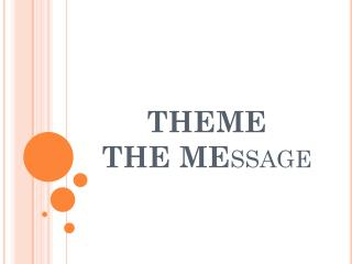 THEME THE  ME ssage