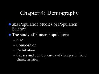 Chapter 4: Demography