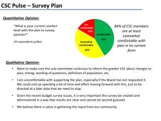CSC Pulse – Survey Plan