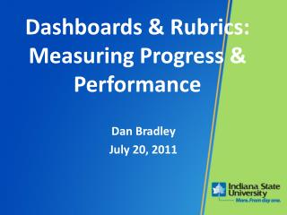 Dashboards & Rubrics: Measuring Progress & Performance