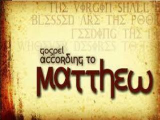 Matthew-Gospel Themes
