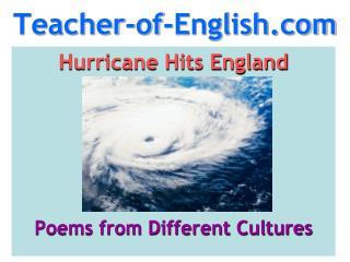 hurricane hits england poem