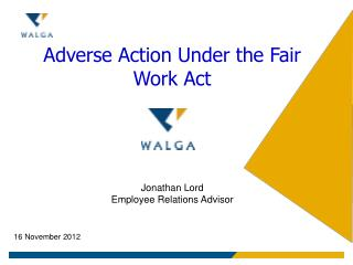 Adverse Action Under the Fair Work Act