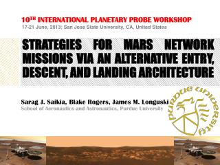 Strategies for mars network missions via an alternative entry, descent, and landing architecture