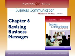 Chapter 6 Revising  Business Messages