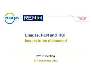 25 th  IG meeting 13 th  December 2013