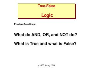 True-False Logic