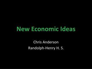 New Economic Ideas