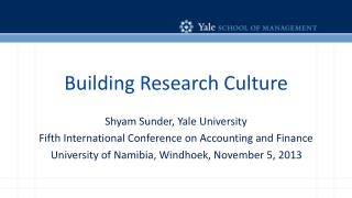 Building Research Culture