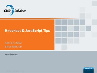 Knockout & JavaScript Tips