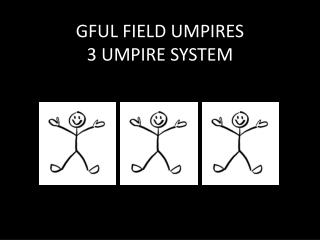 GFUL FIELD UMPIRES  3 UMPIRE SYSTEM