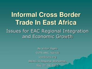 Informal Cross Border Trade In East Africa