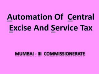 Mumbai - iii  commissionerate