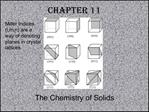 The Chemistry of Solids