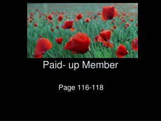 Paid- up Member