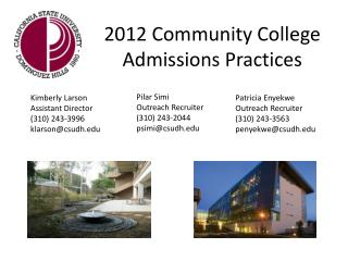 2012 Community College Admissions Practices