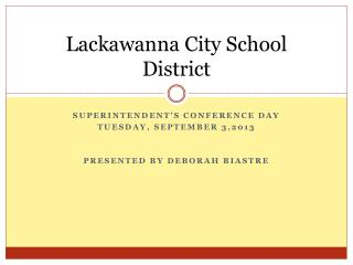 Lackawanna City School District