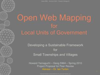Open Web Mapping for Local Units of Government
