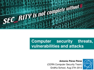 Security Threats, Vulnerabilities, and Exploits