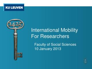 International  M obility For  R esearchers