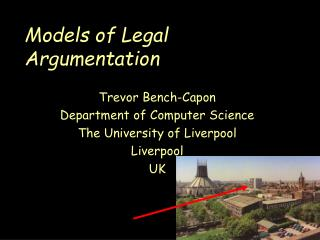 Models of Legal Argumentation