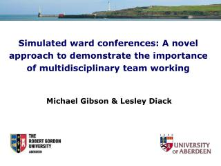 Simulated ward conferences: A novel approach to demonstrate the importance of multidisciplinary team working