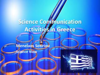 Science Communication Activities in Greece
