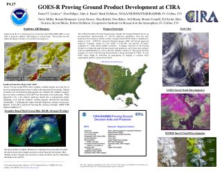 GOES-R Proving Ground Product Development at CIRA