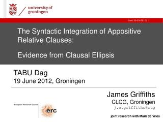 The Syntactic Integration of Appositive Relative Clauses:  Evidence from Clausal Ellipsis
