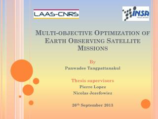 Multi-objective Optimization of Earth Observing Satellite Missions