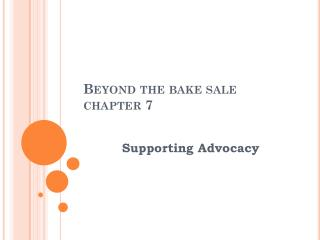 Beyond the bake sale chapter 7