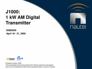 J1000: 1 kW AM Digital Transmitter