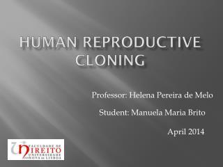 Human Reproductive cloning