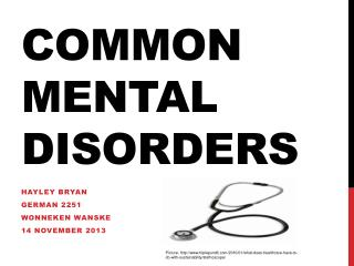 Common Mental Disorders
