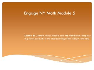 Engage NY Math Module  5