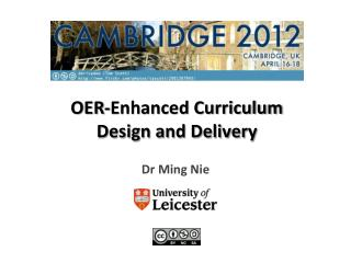 OER-Enhanced Curriculum Design and Delivery