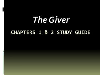 Chapters 1 & 2 Study guide